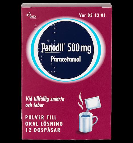 Panodil Pulver 500 mg oral lösning